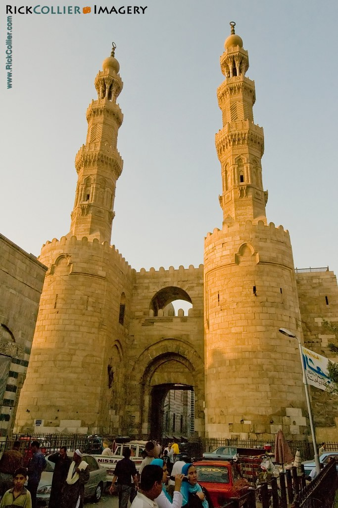 The (restored) Bab Zuwayla is the southern gate to the walled city in old Islamic Cairo