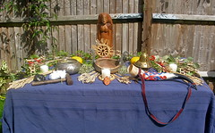 Harvest Home Altar (Thorskegga) Tags: england english home buckinghamshire harvest ceremony altar british 2009 chiltern pagan blot heathen kindred asatru heathenry