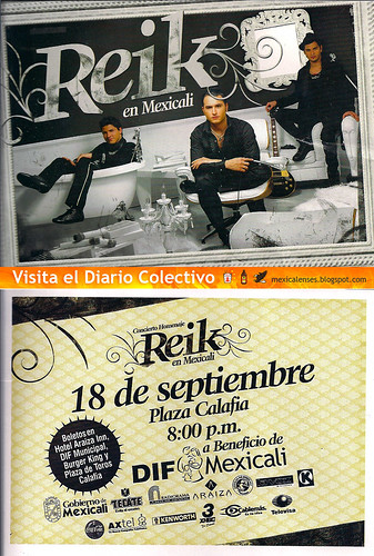 Reik en Mexicali Plaza Calafia el 18 de Septiembre