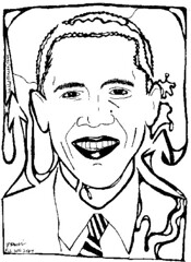 Maze Portrait of President Barrack Obama