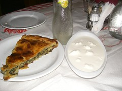 local pita and galotiri at pelion