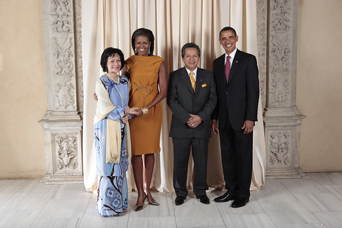 Foreign Minister of Malaysia and his wife with Obama