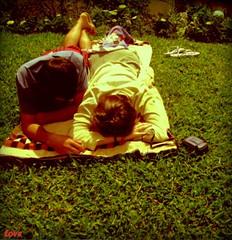 Love (Paola Fabeni.) Tags: flores verde sc brasil amor natureza autoretrato coisas lagoa viagens paola andr mos rvores poladroid riodoscedros