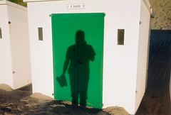 G (lomokev) Tags: shadow sea holiday color colour green beach sand nikon devon beachhut agfa ultra woolacombe agfaultra nikonos deletetag nikonosv nikonos5 nikonosfive roll:name=090923nikonosandunknownultra woolacombebeachhut file:name=090923nikonosandunknownultra32