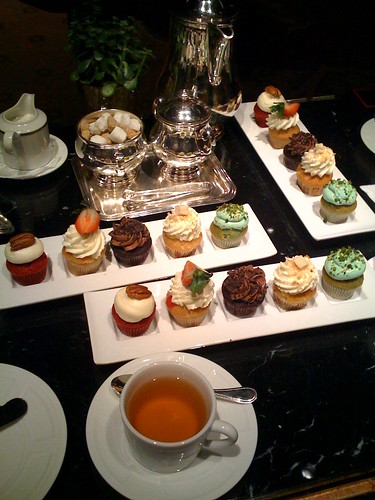 cupcake tea at Ritz Carlton