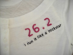 Gift for a runner (jenn_hamelin) Tags: embroidery 262 marathonrunner