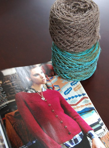 Starting the Garter Yoke Cardigan
