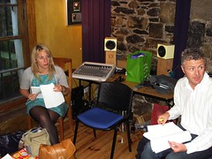 Aine and Sean Paul rehearse