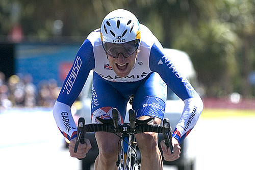 Wiggins wins Sun Tour time trial, moves into lead!