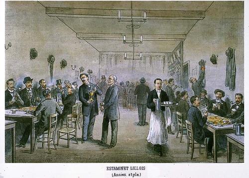 019-Cafe en Lille al antiguo estilo-Collectionneur lillois Edouard Boldoduc  1895