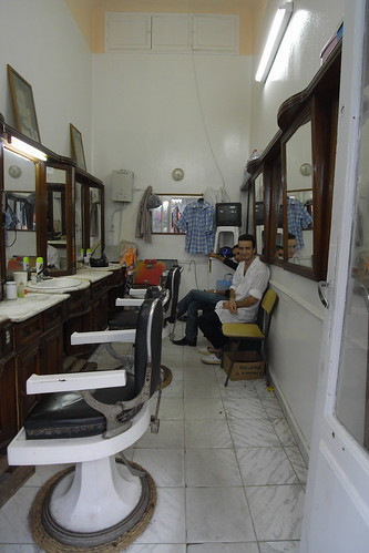 cute guy at Tunisian barbershop