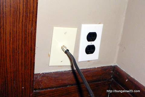 coax outlet installed