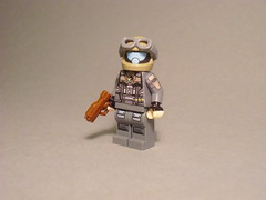Goddamn Halo (Exxtrooper) Tags: 2 3 k dark 1 cool lego gray tan halo made pistol damn whatever ba custom decals meh goddamn minifigure exx brickarms odst exxtrooper