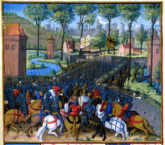 Arrival of the Crusaders at Damascus, f. 148v, Sbastien Mamerot, Les Passages dOutremer, Fr. 5594, BnF (renzodionigi) Tags: pope temple king cross jerusalem chapel knights chevalier cavalry emperor sige crusade crusaders croix bataille gerusalemme templars templari knighthood chivalry crociati croisade croiss hospitallers crociata ospedalieri mohammedhans