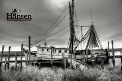 Lowcountry Shrimp Boat (Sco C. Hansen) Tags: birds river boat blackwhite fishing dock nikon photographer south low country southern hansen beaufort shrimping crabbing shrimpboat lowcountry d300 beaufortcounty buoyant platinumphoto scottchansen stockphotoagency beaufortphotographer hiltonheadphotographer wwwlowcountryphotographynet photostockagency