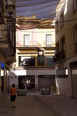 Awning over Seville street (PierTom) Tags: street awning spain seville andaluca