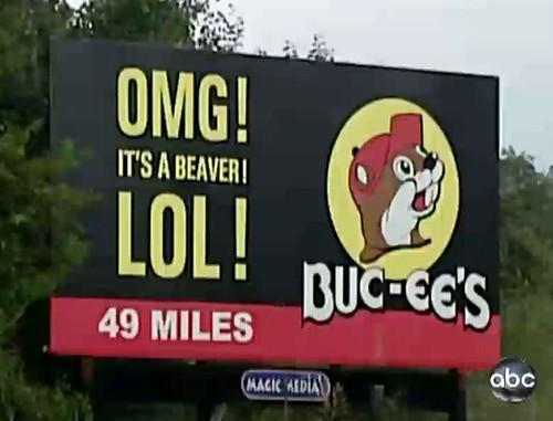buc-ee's billboard