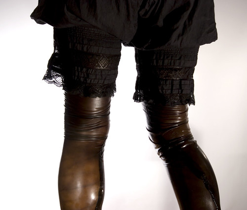 Victorian bloomers + dyed rubber