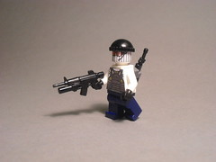 Modern PMC soldier (Exxtrooper) Tags: white guy sunglasses modern soldier cool mod pretty gun lego or stripes made shit ba minifig custom modification grenade launcher pmc m4a1 brickarms mk46 balavacla