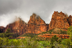 Three Patriarchs - Zion National Park (Michael Pancier Photography) Tags: usa mountains cold nature rain clouds landscape utah nationalpark sandstone zion zionnationalpark nationalparks seor springdale americansouthwest grandcircle threepatriarchs michaelpancier michaelpancierphotography mikejonesismyhero ctvb wwwmichaelpancierphotographycom hmlx33 seorcohiba