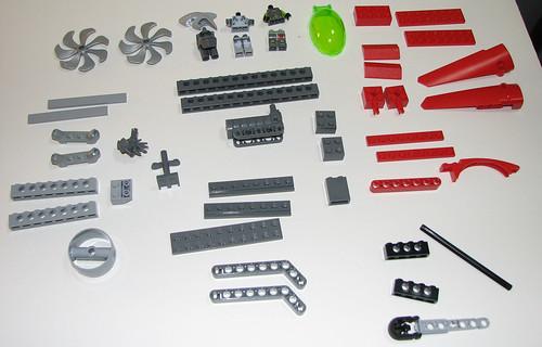 LEGO 8060 Atlantis - Typhoon Turbo Sub - Parts 3