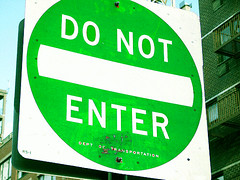Green Don't Enter