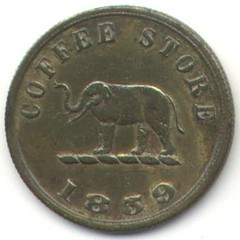 1859 Scott Coffee token, Ceylon (reverse)