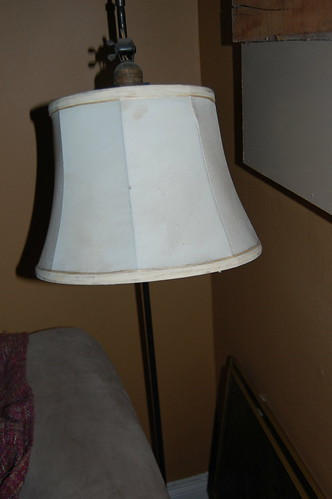 lamp that does not work but was taken out of basement and put in to the house