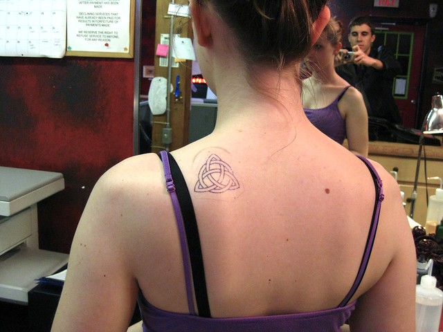 Triquetra Tattoo (before). Done at Voodoo Tattoo in Huntsville, TX