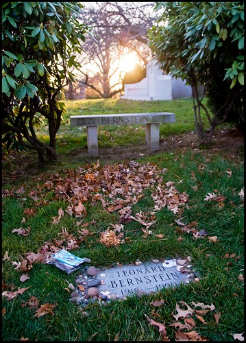 Leonard Bernstein Grave, Sunset, Green-Wood Cemetery