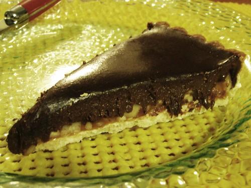 chocolate crunched caramel tart - 41