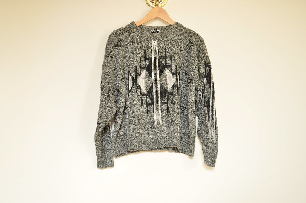 vintage gray sweater