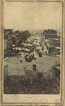 Broadway, Council Bluffs (Iowa), 1864.