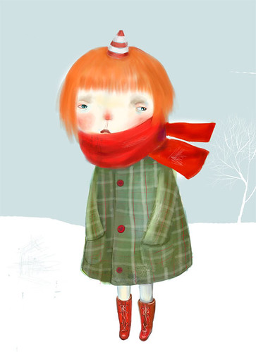 winter girl  / Dilka Bear