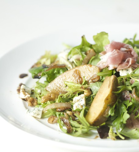 4237166342 1aa0176817 Lightening Up with a Salad  Caramelised Pear & Walnut w/ Prosciutto & Stilton Cheese