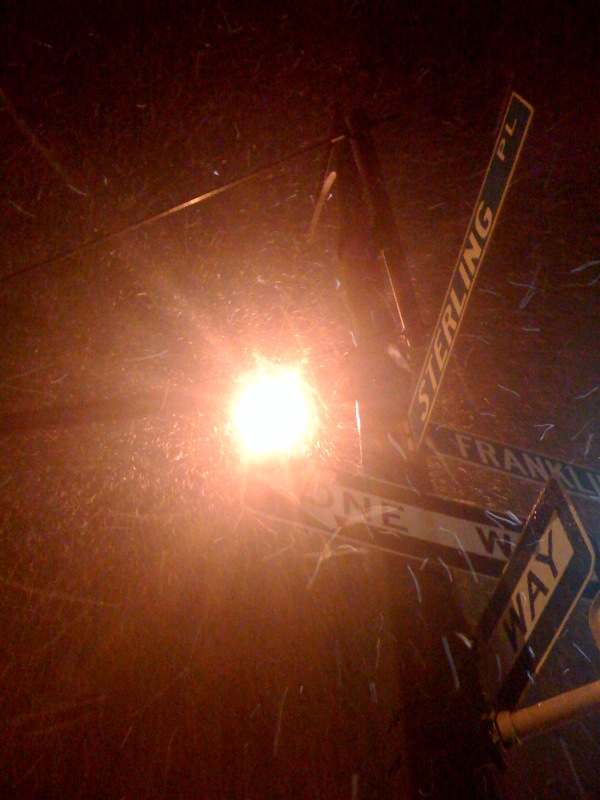 snowsign2 NYC Blizzard start 2/10