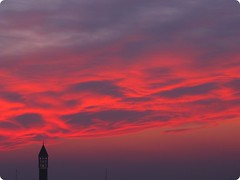 Tramonto di fuoco (*eily*) Tags: sunset red clouds tramonto nuvole campanile rosso