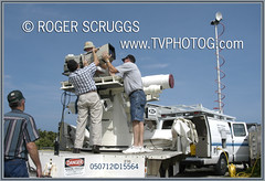 KSC Tracking Camera (av8rtv tvphotog) Tags: tv nasa ksc scruggs brevard livetruck sts114 tvphotog spacecoast av8rtv trackingcamera