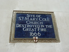 Photo of St. Mary Cole blue plaque