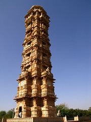 PC020403 (Radicaladam) Tags: travel blue india detail green tower animals stone temple sand sandstone fort statues victory temples jain carvings rajasthan jainism chittogarh chittogarhfort
