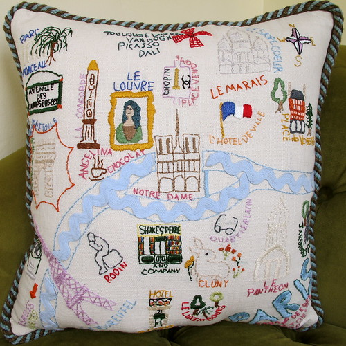 Paris Pillow made by Mom