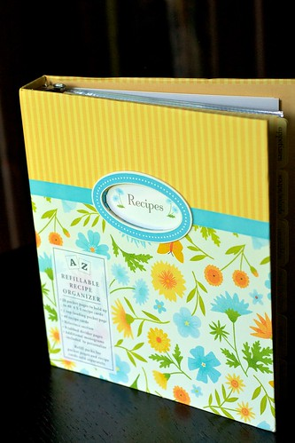 Pretty recipe book.