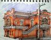 15º SketchFolium Mogi (AdrianoMello) Tags: sketch poste laranja esquina markers desenho casarão mogidascruzes hidrocor sketchfolium escadadraw