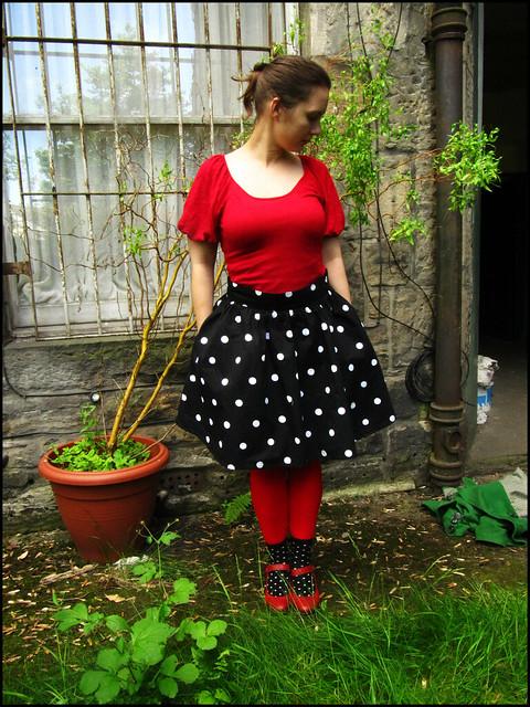 polkadots and red