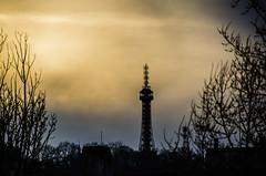 The tower at dusk (Melissa Maples) Tags: sunset silhouette evening nikon europe sundown prague dusk praha czechrepublic nikkor vr afs  18200mm f3556g esko eskrepublika petnskrozhledna  18200mmf3556g petntower d5100