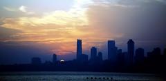 Mumbai Skyline - III (Perceptive Photography) Tags: mumbai skyline india perceptivephotography sunset sun sky sea travel silhouette clouds colorful ocean buildings nikonflickraward