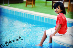 (A.A.A) Tags: family boy cute love pool by photography kid nephew sh fahad amna abdulaziz althani