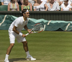 Roger Federer (zoom images) Tags: lawn player tennis tournament mens championships wimbledon 2009 singles racquet centrecourt top20sports