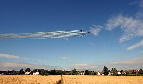 The Red Arrows visit Charfield