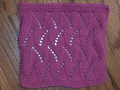 Flicker Flames dishcloth